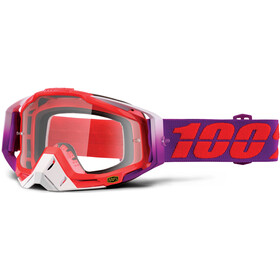 100% Racecraft Anti Fog Clear Goggles, watermelon